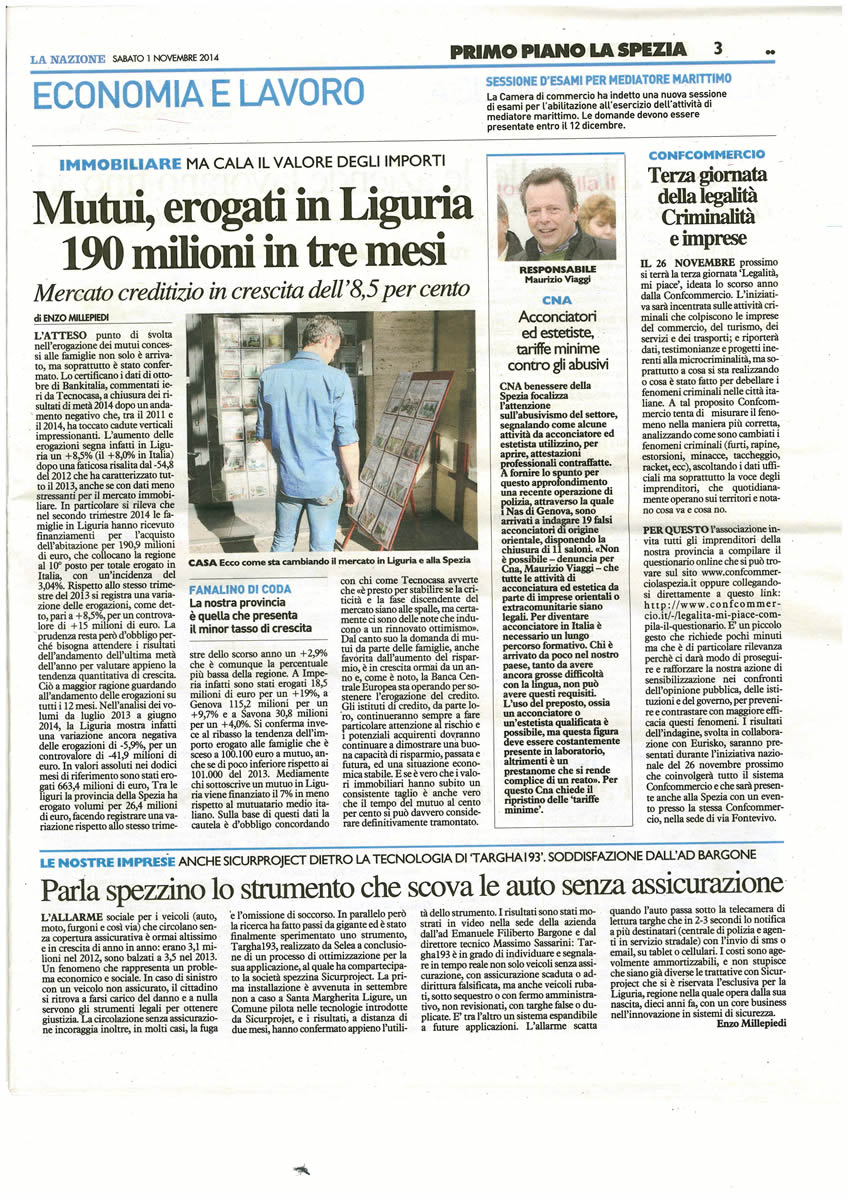 SICUR PROJECT_LaNazione_01.11.2014