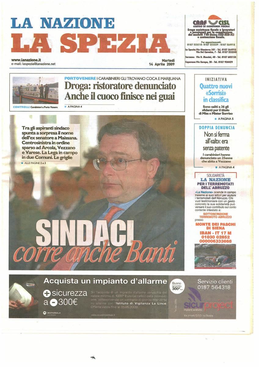 SICUR PROJECT_LaNazione_14.04.2009