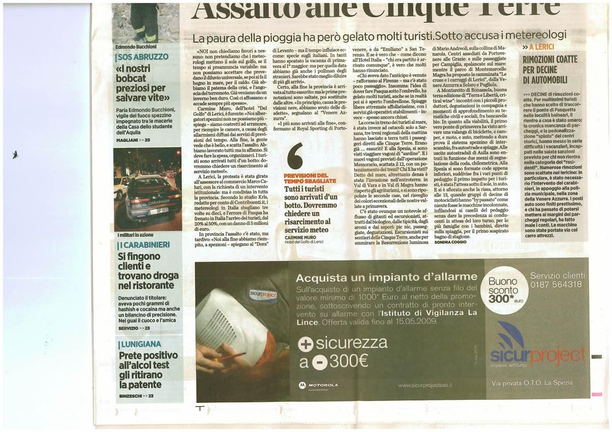 SUCURPROJECT_ILSecoloXIX_Pubblicità_14.04.2009